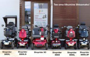 Valik 4-rattalisi Shopridereid